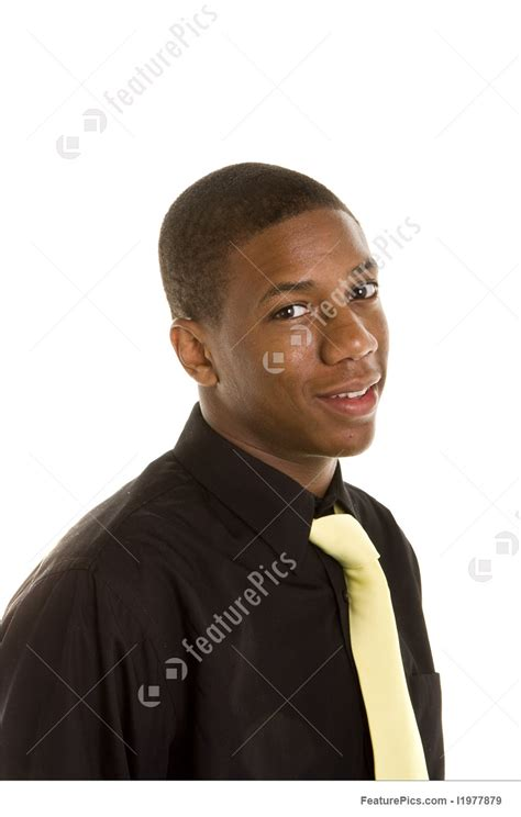 Business People: Young Black Man In Black Shirt And Yellow