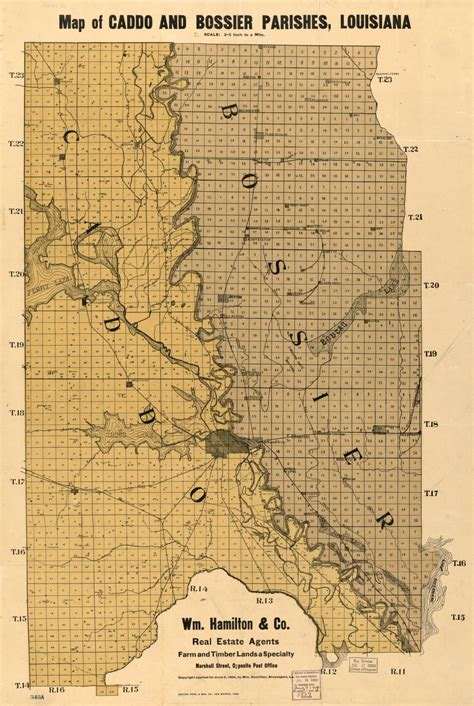 Map of Caddo and Bossier Parishes, Louisiana   Library of