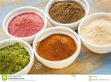 Fruit And Leaf Powders Stock Photography - Image: 32878542