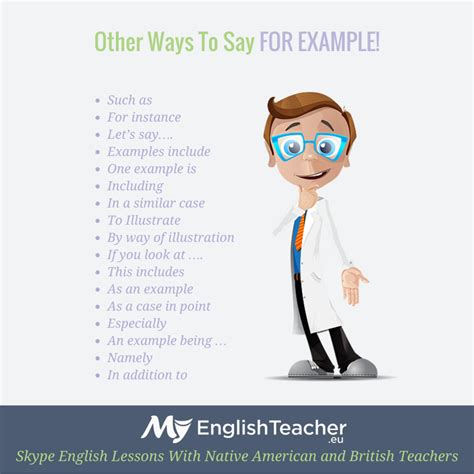Other ways to say FOR EXAMPLE   Other ways to say, English