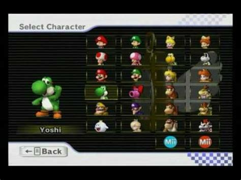 All Mario Kart Wii Characters And Vehicles - YouTube