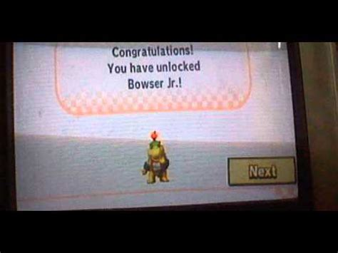 Mario Kart Wii (How to unlock Bowser JR) By Noah - YouTube