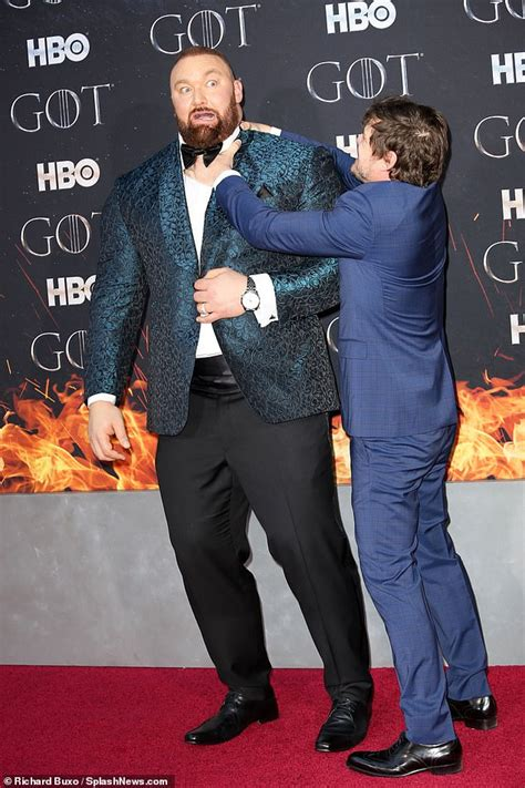 Games of Throne star, The Mountain, towers over his wife