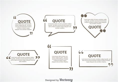 Gray Quotation Mark Text Bubble Vector Sets - Download