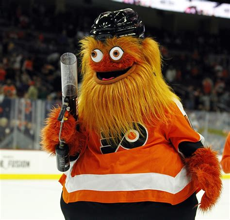 Flyers introduce odd-looking mascot named Gritty, soak in