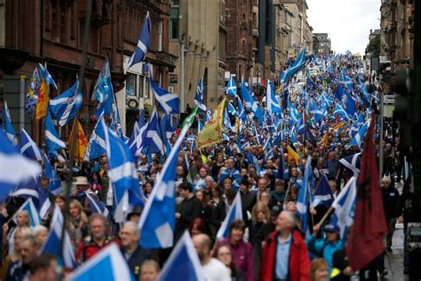 Thousands March For Scottish Independence In Glasgow - But