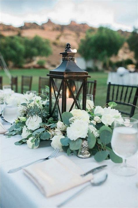 Top 15 White and Greenery Wedding Centerpieces for 2018