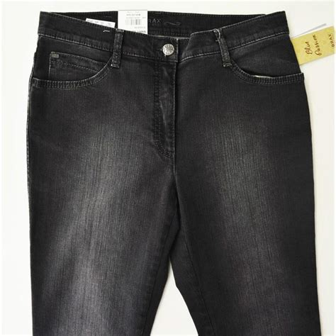 BRAX Mary Glamour, modische Damen Jeans in Anthrazit Used