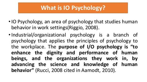 Industrial and organizational psychology 1