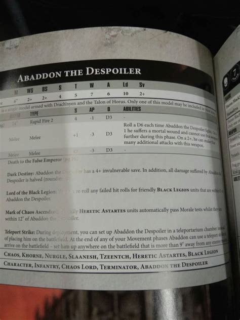 Leaked Chaos Space Marine Rules