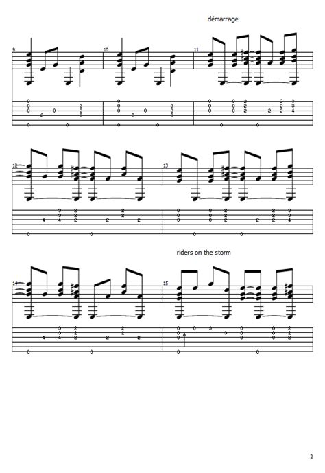 Riders On The Storm Tabs The Doors (Acoustic) Free Tabs
